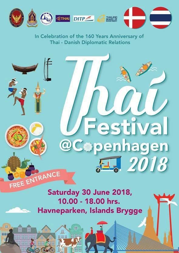 Thai Festival 2018 lørdag den 30 juni 2018