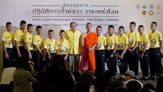 I dag sagde drengene fra Tham Luang-grotten og den thailandske regering tak for den store redningsaktion.