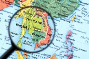 Thailand kort