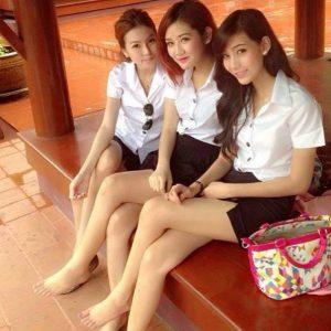 Thailandske skolepiger