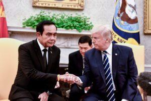 Premierminister Prayuth Chan-ocha på besøg hos Donald Trump