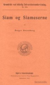 Siam og Siameserne