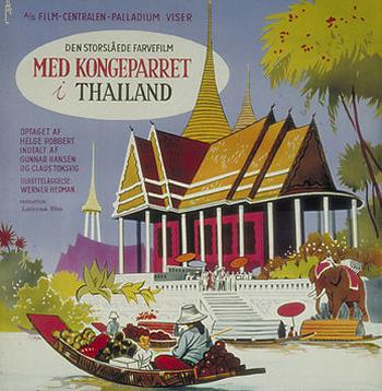 Med kongeparret i Thailand anno 1962